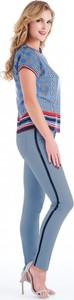 Niebieskie spodnie POTIS & VERSO z tkaniny