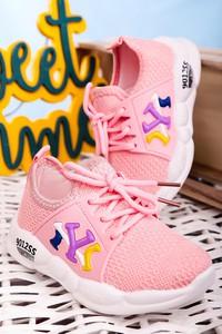 Różowe buty sportowe dziecięce Casu sznurowane