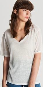 T-shirt Cropp z lnu