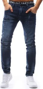 Granatowe jeansy dstreet w stylu casual