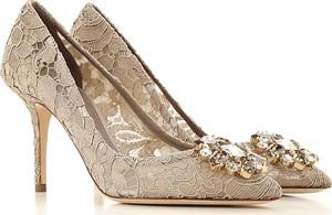 Szpilki Dolce & Gabbana na średnim obcasie na szpilce ze spiczastym noskiem