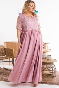 Sukienka KARKO hiszpanka maxi dla puszystych