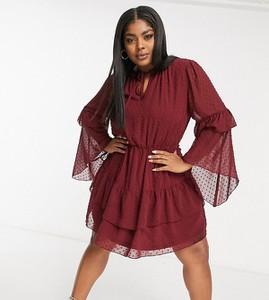 Czerwona sukienka Missguided Plus mini koszulowa