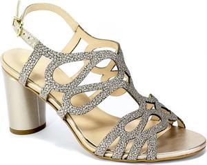 Złote sandały Kordel z klamrami