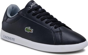 Czarne buty sportowe Lacoste ze skóry sznurowane