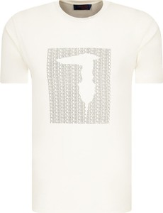 T-shirt Trussardi Jeans z krótkim rękawem w młodzieżowym stylu z nadrukiem