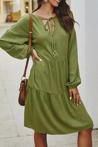 Sukienka IVET w stylu casual oversize midi