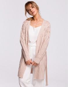 Różowy sweter MOE w stylu casual