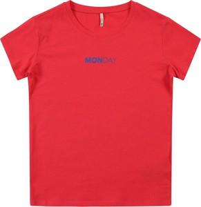 Czerwona koszulka dziecięca Kids Only z krótkim rękawem z tkaniny