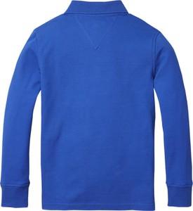 Niebieska koszulka dziecięca Tommy Hilfiger z dżerseju