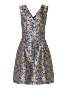 Sukienka Jake*s Collection rozkloszowana mini z dekoltem w kształcie litery v
