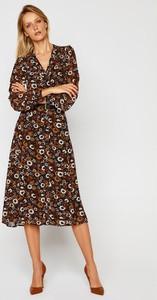 Sukienka Michael Kors z długim rękawem midi