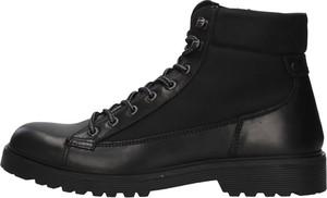 Buty zimowe Igi & Co w stylu casual sznurowane ze skóry