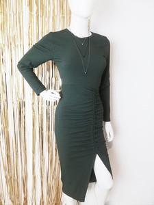 Zielona sukienka Luashop z długim rękawem
