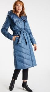 Niebieski płaszcz Monnari w stylu casual