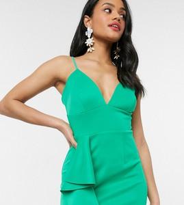 Zielona sukienka Laced In Love z dekoltem w kształcie litery v mini