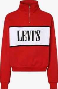 Czerwona bluza Levis krótka w młodzieżowym stylu