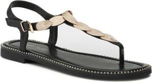 Czarne sandały Jenny Fairy z płaską podeszwą