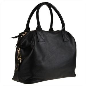 Czarna torebka Vera Pelle duża w stylu casual ze skóry