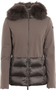 Brązowa kurtka Rrd krótka w stylu casual