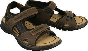 Czarne buty letnie męskie Rieker