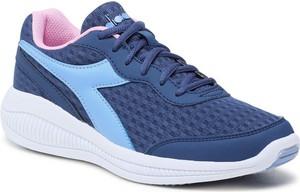 Granatowe buty sportowe Diadora sznurowane z płaską podeszwą