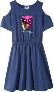 Niebieska sukienka dziewczęca bonprix bpc bonprix collection