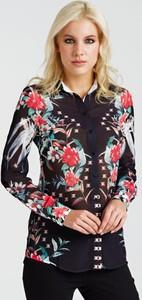 Koszula Guess z długim rękawem z tkaniny