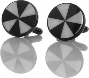 Em Men`s Accessories Spinki do mankietów klasyczne okrągłe EM 423