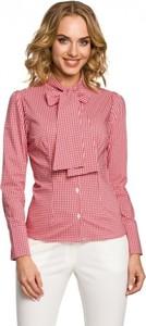 Różowa koszula MOE z długim rękawem