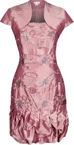 Sukienka Fokus w stylu glamour z krótkim rękawem