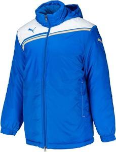Niebieska kurtka Puma w sportowym stylu z tkaniny krótka