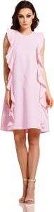 Różowa sukienka Lemoniade bez rękawów z okrągłym dekoltem