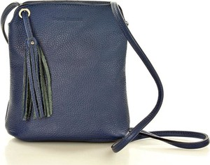 Niebieska torebka MAZZINI przez ramię w młodzieżowym stylu
