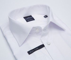 Koszula Lanieri z tkaniny z klasycznym kołnierzykiem z długim rękawem