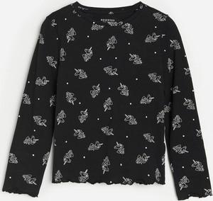 Koszulka dziecięca Reserved z długim rękawem dla dziewczynek z bawełny
