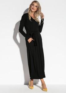 Sukienka Fobya maxi z dekoltem w kształcie litery v w stylu casual