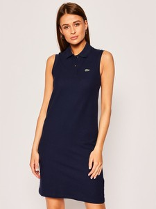 Sukienka Lacoste prosta bez rękawów w stylu casual