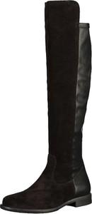 Kozaki Tamaris za kolano ze skóry w stylu casual