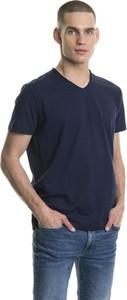 Niebieski t-shirt Big Star z krótkim rękawem