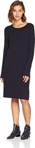 Sukienka amazon.de z okrągłym dekoltem z długim rękawem midi