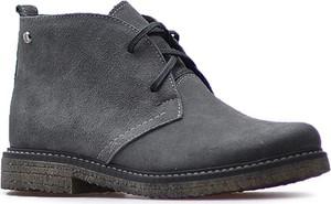 Czarne botki Lemar w stylu casual z płaską podeszwą