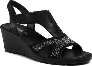 Czarne sandały Imac ze skóry
