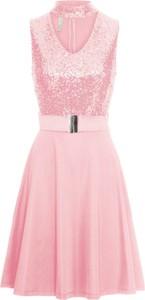 Sukienka bonprix BODYFLIRT boutique midi w stylu glamour