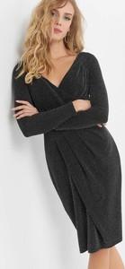 Czarna sukienka ORSAY kopertowa z dekoltem w kształcie litery v