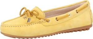 Żółte półbuty Scapa w stylu casual z płaską podeszwą