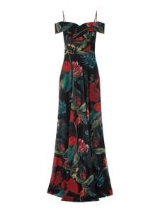 Czarna sukienka Troyden Collection z dekoltem w kształcie litery v maxi