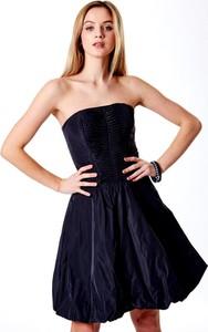 Granatowa sukienka Sheandher.pl bez rękawów z bawełny mini