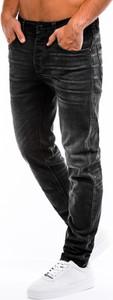 Czarne jeansy Edoti z jeansu