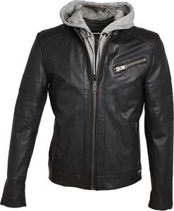 Czarna kurtka ROCKANDBLUE w stylu casual krótka ze skóry
